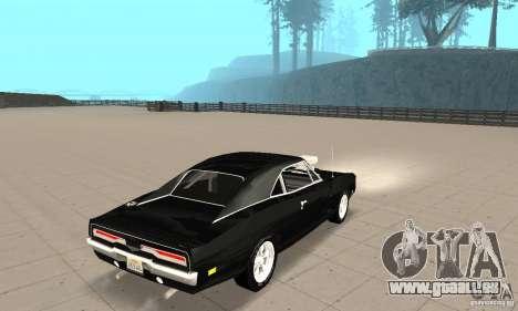 Dodge Charger RT 1970 The Fast & The Furious pour GTA San Andreas sur la vue arrière gauche
