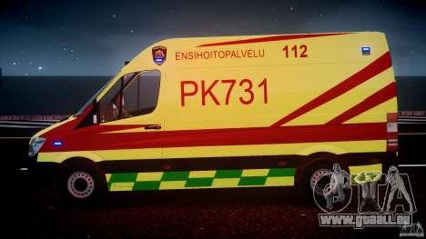 Mercedes-Benz Sprinter PK731 Ambulance [ELS] pour le moteur de GTA 4