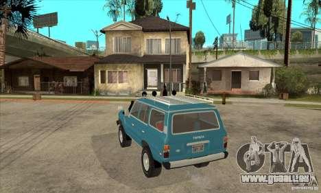Toyota Land Cruiser pour GTA San Andreas sur la vue arrière gauche