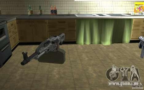PKP petchenègue mitrailleuse pour GTA San Andreas troisième écran