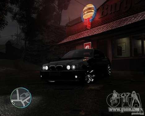 BMW 530I E39 [Final] pour GTA 4 est une vue de l'intérieur