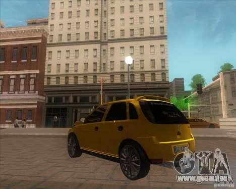 Opel Corsa C 2004 Deutsch style pour GTA San Andreas sur la vue arrière gauche