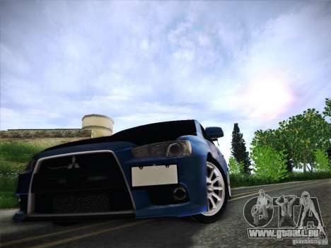 Mitsubishi Lancer Evolution Drift Edition für GTA San Andreas Unteransicht