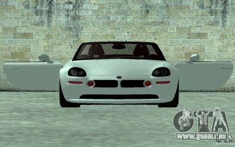 BMW Z8 für GTA San Andreas zurück linke Ansicht