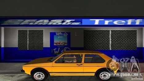 Volkswagen Golf Mk1 GTI pour GTA Vice City vue arrière