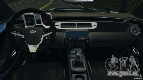 Chevrolet Camaro ZL1 2012 v1.2 pour GTA 4 Vue arrière