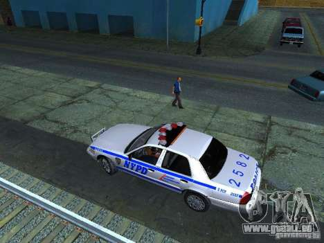 Ford Crown Victoria 2009 New York Police pour GTA San Andreas vue intérieure