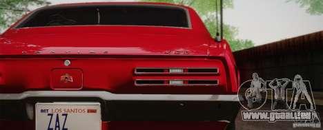 Pontiac Firebird 400 (2337) 1968 pour GTA San Andreas laissé vue