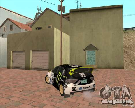 Subaru Impreza Ken Block für GTA San Andreas zurück linke Ansicht