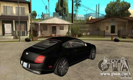 Bentley Continental Supersports pour GTA San Andreas vue de droite