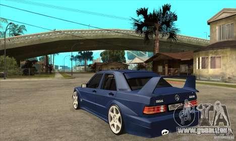 Mercedes-Benz w201 190 2.5-16 Evolution II für GTA San Andreas zurück linke Ansicht