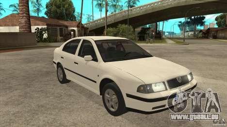 Skoda Octavia 1997 pour GTA San Andreas vue arrière