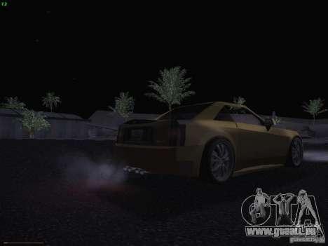 Cadillac XLR 2006 pour GTA San Andreas vue de dessous