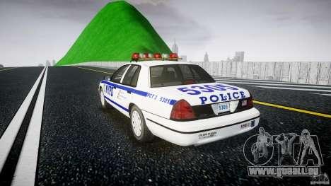 Ford Crown Victoria Police Department 2008 NYPD für GTA 4 Innenansicht