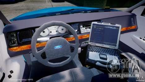 Ford Crown Victoria Classic Blue NYPD Scheme für GTA 4 Rückansicht