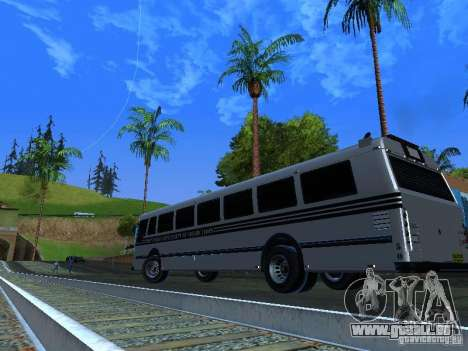 Prison Bus pour GTA San Andreas vue intérieure