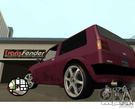 Roues du jeu Juiced 2 Pack 1 pour GTA San Andreas troisième écran