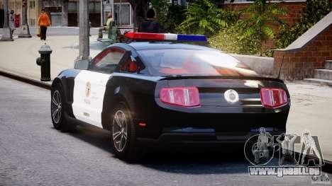Ford Mustang V6 2010 Police v1.0 für GTA 4 hinten links Ansicht