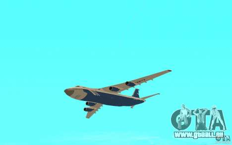 L'an-124 Ruslan pour GTA San Andreas vue de droite