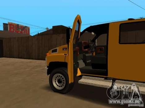 GMC TopKick pour GTA San Andreas vue de côté