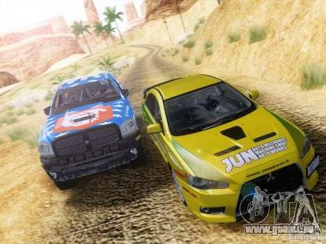 Dodge Ram Trophy Truck pour GTA San Andreas vue de dessus