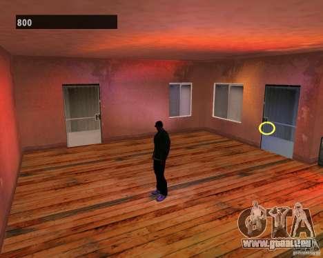 Intérieurs cachés 3 pour GTA San Andreas cinquième écran
