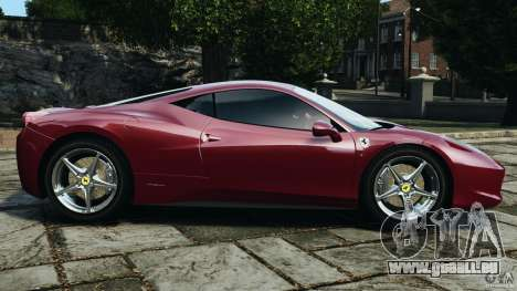 Ferrari 458 Italia 2010 v2.0 pour GTA 4 est une gauche