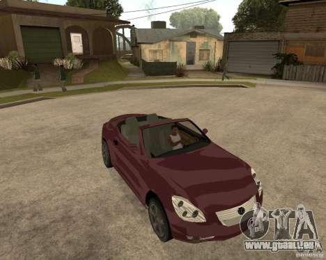 Lexus SC430 für GTA San Andreas Rückansicht