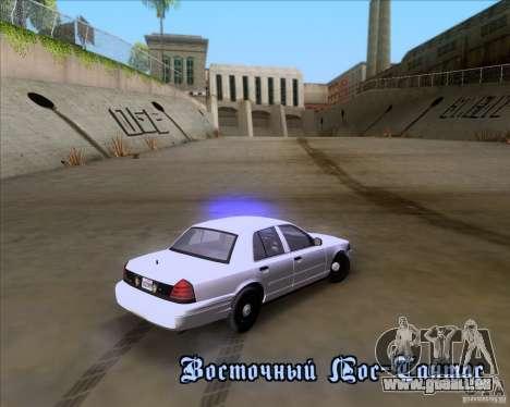 Ford Crown Victoria 2009 Detective für GTA San Andreas obere Ansicht