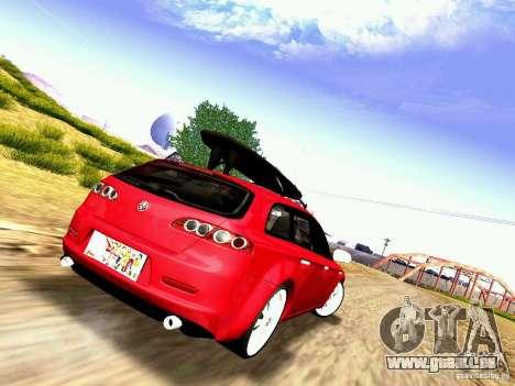 Alfa Romeo 159 Sportwagon pour GTA San Andreas laissé vue