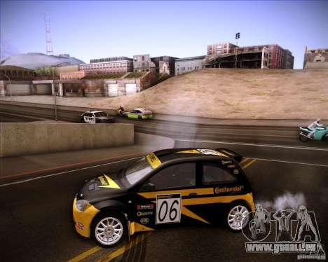 Opel Corsa Super 1600 für GTA San Andreas Innenansicht