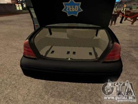 Ford Crown Victoria 2003 Police für GTA San Andreas Rückansicht