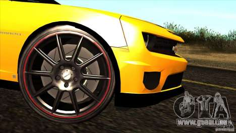 Chevrolet Camaro für GTA San Andreas Rückansicht