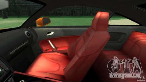 Audi TT Stock 2007 für GTA 4 Innenansicht