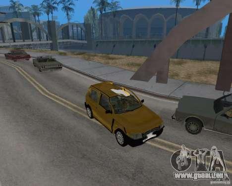 Fiat Mille Fire 1.0 2006 pour GTA San Andreas vue intérieure