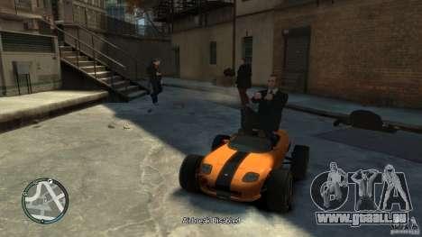 Banshee Go Kart pour GTA 4 Vue arrière de la gauche