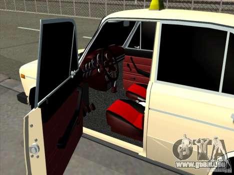 VAZ 2106 Taxi für GTA San Andreas Rückansicht