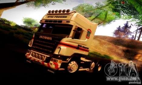 Scania R620 Emercom Romanow für GTA San Andreas Innen
