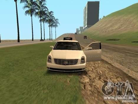 Cadillac DTS 2010 pour GTA San Andreas vue intérieure