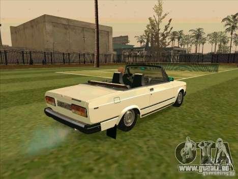 VAZ 2107 Cabrio für GTA San Andreas zurück linke Ansicht
