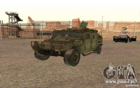 Hummer Spec Ops The Line für GTA San Andreas Innenansicht