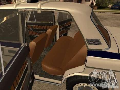 Police Vaz 2103 pour GTA San Andreas vue arrière