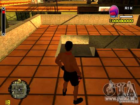 Homme peau plage pour GTA San Andreas deuxième écran