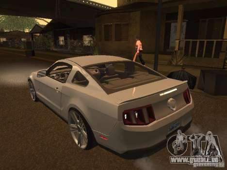 Ford Mustang 2011 GT pour GTA San Andreas sur la vue arrière gauche