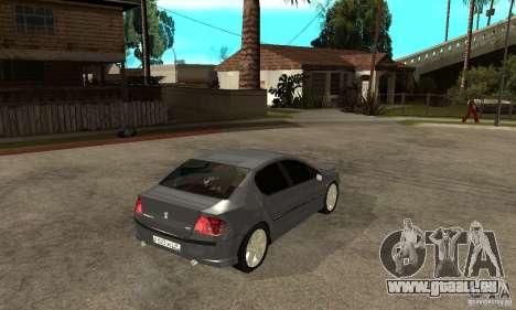 Peugeot 407 pour GTA San Andreas vue de droite