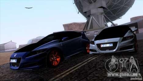 Honda CR-Z Mugen 2011 V1.0 pour GTA San Andreas vue de côté