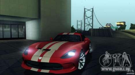Dodge SRT Viper GTS 2012 V1.0 pour GTA San Andreas moteur