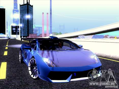 Lamborghini Gallardo Racing Street pour GTA San Andreas vue intérieure