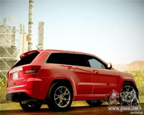 Jeep Grand Cherokee SRT-8 2012 pour GTA San Andreas vue arrière