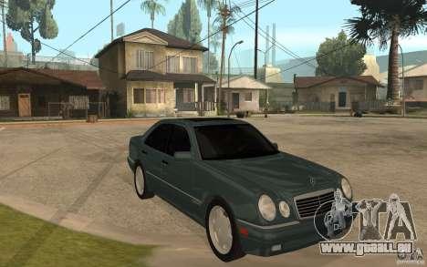 Mercedes-Benz E420 W210 1997 pour GTA San Andreas vue arrière
